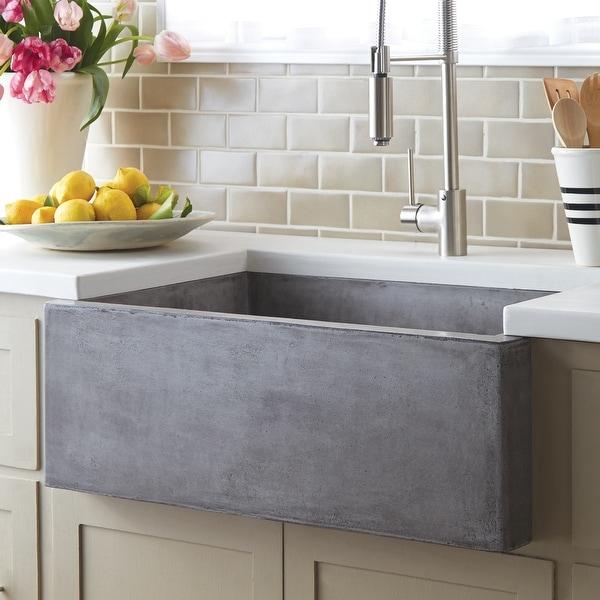 "Farmhouse 30-inch NativeStone Kitchen Sink - 30"" x 18"" x 10.25"". Opens flyout."
