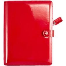 "Patent Red - Color Crush A5 Faux Leather Planner Kit 7.5""X10"""