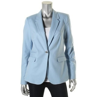 Vince Camuto Womens One-Button Blazer Long Sleeve Notch Colalr - 8