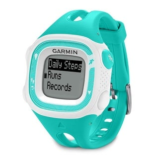 Refurbished Garmin Forerunner 15, Small - Teal and White GPS Running Watch