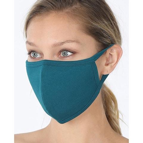 UNISEX Non-Medical Washable Cotton Face Mask w/ Filter Pocket