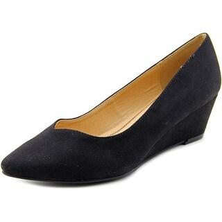 CL By Laundry Tiara Women Open Toe Synthetic Black Wedge Heel