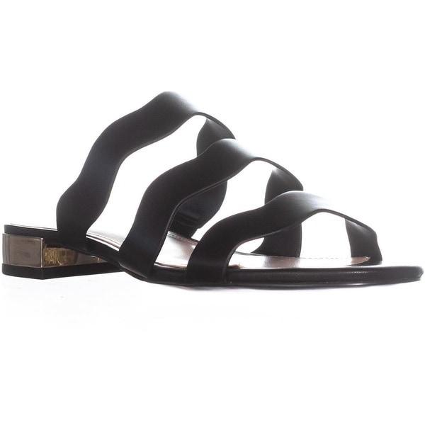 BCBG Generation Dania Flat Sandals, Black - 7 us / 37 eu