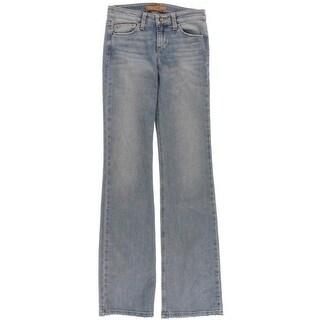 Joe's Jeans Womens Vixen Whiskered Raw Hem Bootcut Jeans - 24