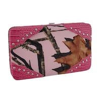 Mossy Oak Camouflage Canvas Studded Western Style Wallet