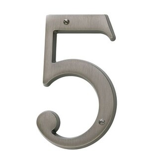 Baldwin 90675 Solid Brass Residential House Number 5