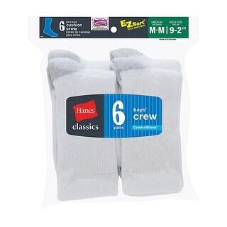 Hanes Classics Boys' Crew EZ Sort Socks 6-Pk
