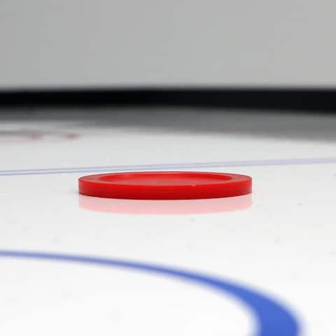 Sunnydaze Large 2.5-Inch Replacement Air Hockey Game Table Pucks - 2-Pack - Red