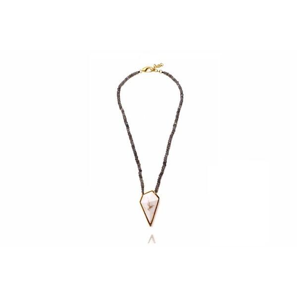 Occitan Necklace in White on labradorite beads