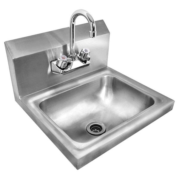 Shop Costway Stainless Steel Hand Wash Sink Washing Wall Mount ...