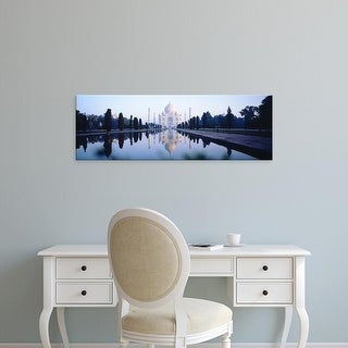 Easy Art Prints Panoramic Images's 'Taj Mahal India' Premium Canvas Art