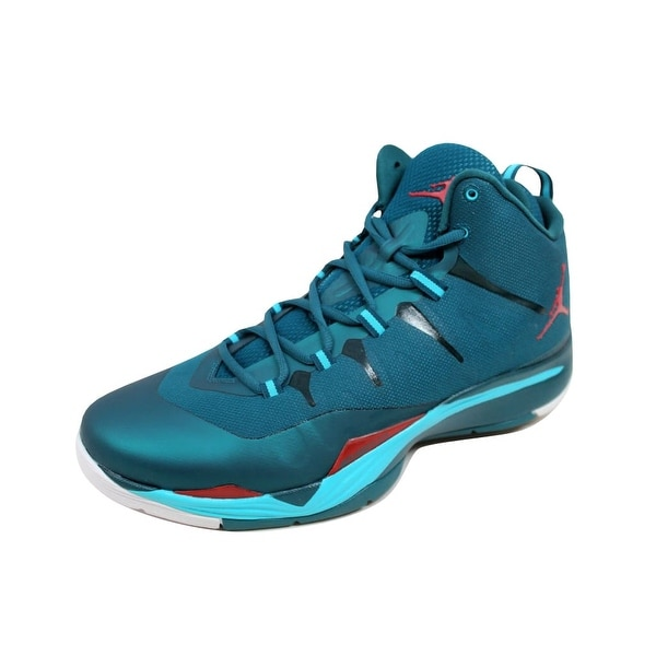 Nike Men's Air Jordan Super Fly 2 Dark Sea/Gym Red-Gamma Blue-White 599945-308 Size 12.5