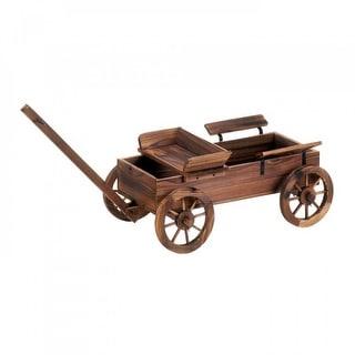 Rustic Planter Wood Wagon