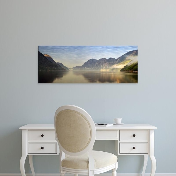 Easy Art Prints Panoramic Images's 'Lake surrounded by rocks, Song Sand, Lysefjord, Ryfylke, Norway' Canvas Art