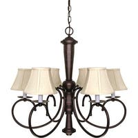 "Nuvo Lighting 60/101 Mericana 6 Light 26-1/2"" Wide Chandelier"