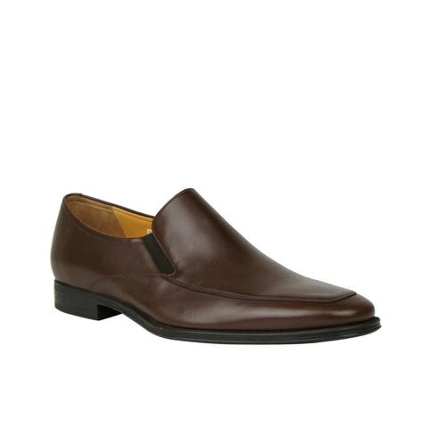 Bally Men's Brown Calf Leather Slip On Loafers With Script Logo Thor-131 (10.5 D US)