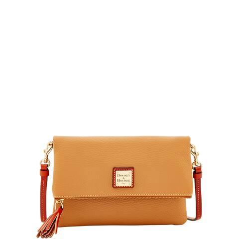 Dooney & Bourke Pebble Grain Foldover Zip Crossbody Shoulder Bag