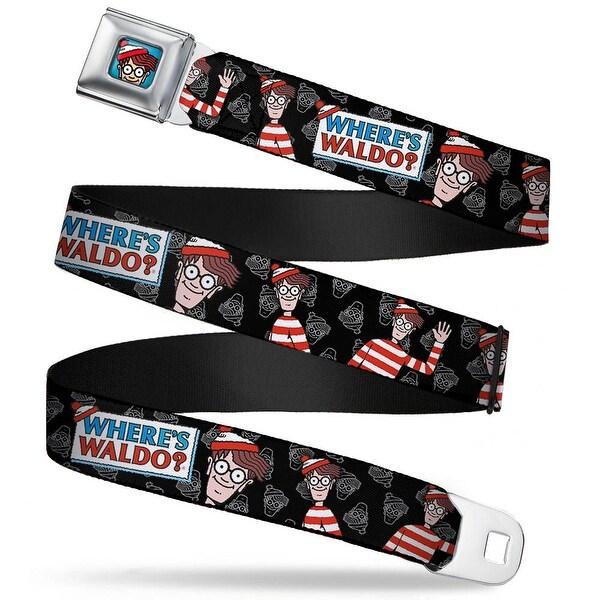 Waldo Bottom Crop Full Color Blue Where's Waldo? Waldo Poses Face Black Seatbelt Belt