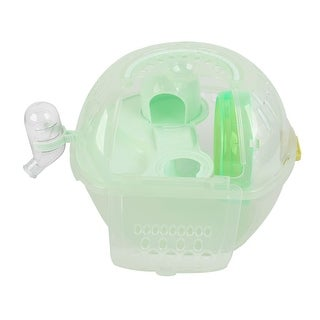Pets Small Animals Exercise Cage Habitat House Light Green Plastic w Wheel Slide