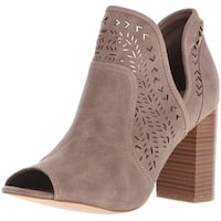 Fergalicious Womens Harvey Fabric Peep Toe Ankle Fashion Boots