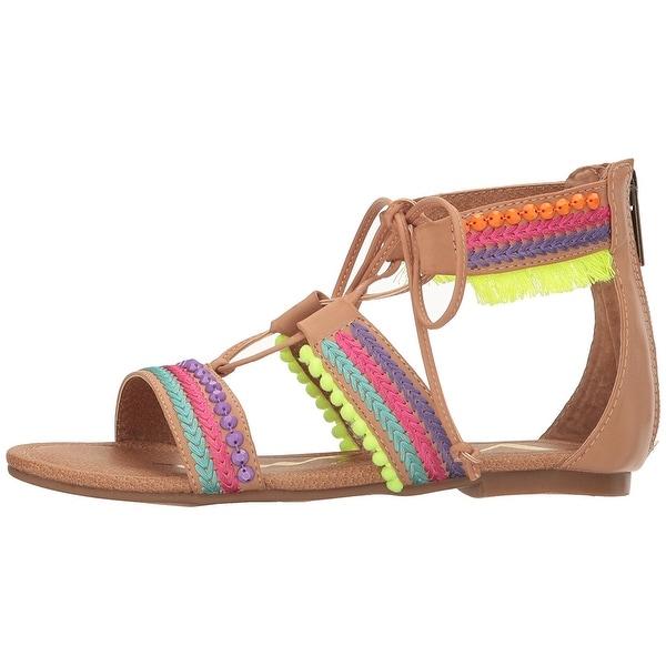 Nina Womens Elm Leather Open Toe Casual Gladiator Sandals