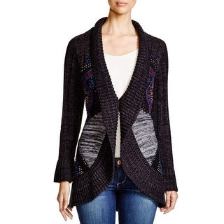 Cupio Womens Cardigan Sweater Cable Knit Pattern
