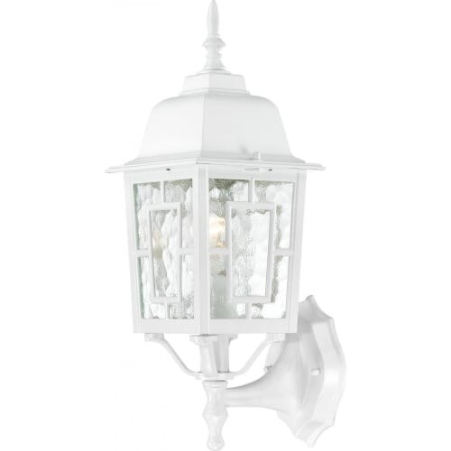 Nuvo Lighting 60/4924 Banyon Single-Light Wall Lantern with Clear Water Glass Panels