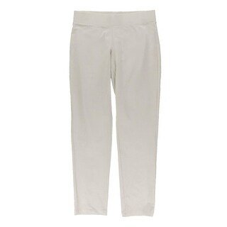 Eileen Fisher Womens Petites Leggings Knit Flat Front Ivory PM