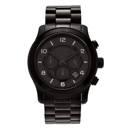 Michael Kors Men's 'Runway' MK8157 Blacked Out Chronograph Bracelet Watch