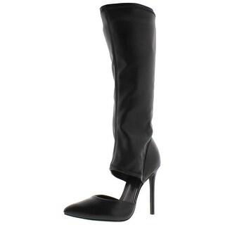 Schutz Womens Knee-High Boots Leather Pointed Toe - 10 medium (b,m)