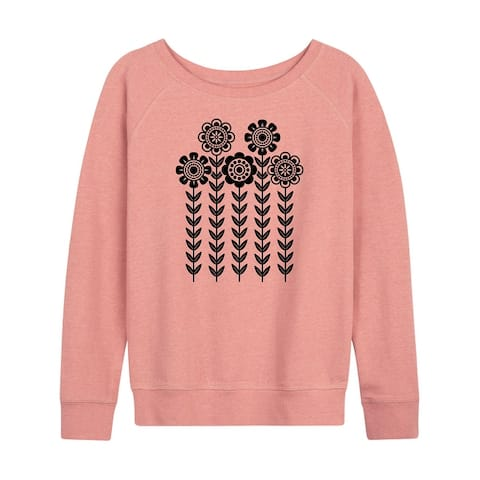Scandinavian Flowers - Women's French Terry Pullover