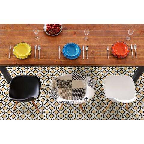 8x8 Brilliant Mustard Porcelain Floor and Wall Tile (3.88 Sq. Ft./ 9 pcs per box)
