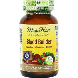 MegaFood Blood Builder Iron Multivitamin - 90 Tablets Health Red Blood Cells & Iron Levels