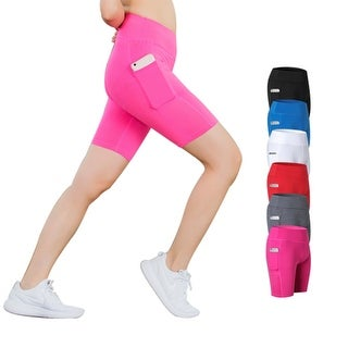 Premium Active Shorts With Phone Pocket, Multiple Colors