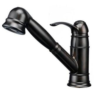 Artisan AF-400 Premium Single Handle Pullout Spray Kitchen Faucet - Includes Escutcheon Plate