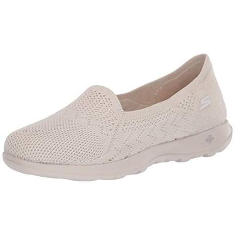 Skechers Women's Loafer Flat, Natural, 8