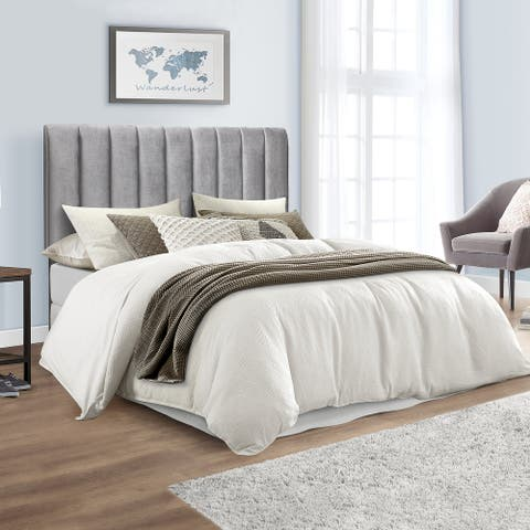 Hillsdale Furniture Crestone Upholstered Headboard with Frame, Gray