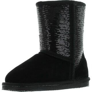 Lamo Girls Sequin Fashion Boots (Option: Gold - 11 m us little kid)