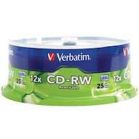 Verbatim 95155 700Mb 80-Minute 4X-12X High-Speed Cd-Rws, 25-Ct Spindle