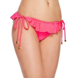 Shoshanna Womens Ruffled Side Tie Swim Bottom Separates