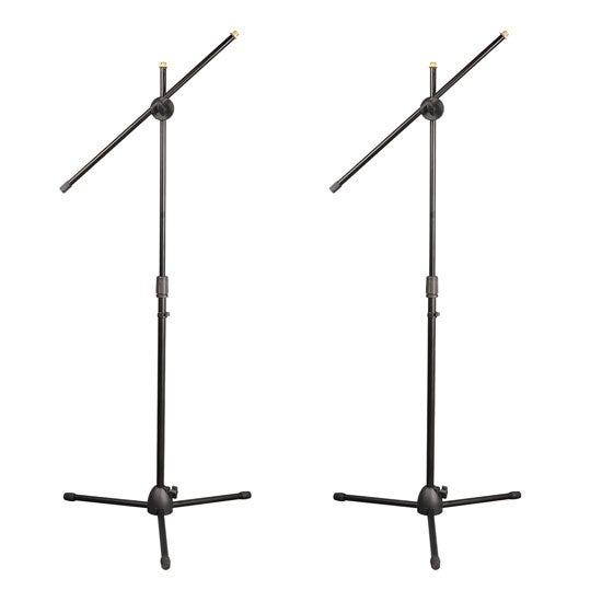Universal Tripod Microphone Stands - Adjustable & Extendable set of 2