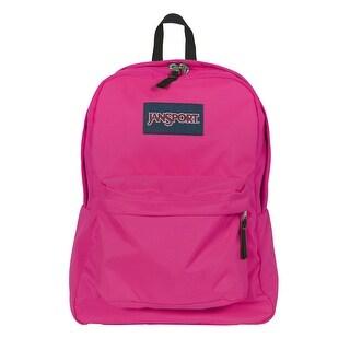 JanSport Superbreak Backpack - Cyber Pink - cyber pink
