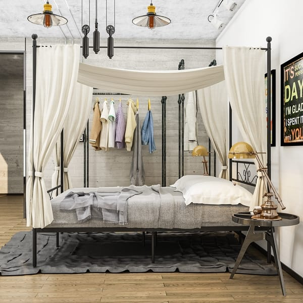 Twin Full Queen Canopy Bed Frame