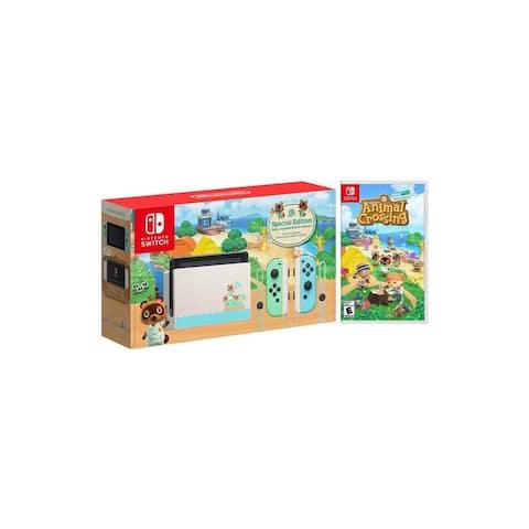 Nintendo Switch Animal Crossing: New Horizons Edition Bundle with Animal Crossing: New Horizons NS Game