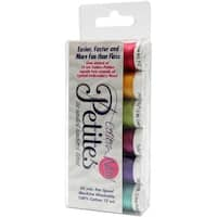 Sulky Sampler 12wt Cotton Petites 6/Pkg-Bright Colors Assortment