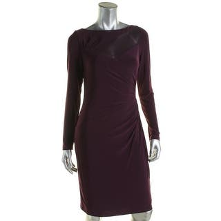 Lauren Ralph Lauren Womens Wear to Work Dress Mesh Inset Ruched - 18|https://ak1.ostkcdn.com/images/products/is/images/direct/e50462fd571b6d6cf053c71204f4b3a4e1226d05/Lauren-Ralph-Lauren-Womens-Wear-to-Work-Dress-Mesh-Inset-Ruched.jpg?impolicy=medium