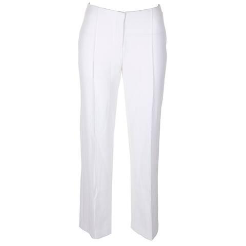 Alfani Petite Creased Pocketless Wide-Leg Pants 2P
