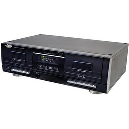 Dual Stereo Cassette Deck w/Tape USB to MP3 Converter
