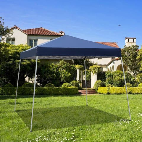 8 x 8 ft. Outdoor Party Gazebo Camping Canopy Blue - Without Wall