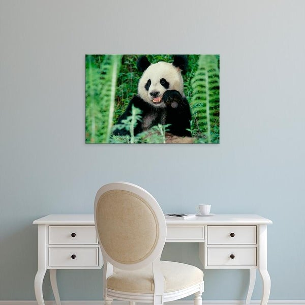 Easy Art Prints Keren Su's 'Panda In The Forest' Premium Canvas Art